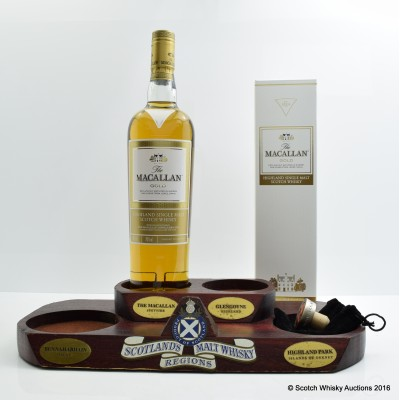 Macallan Gold & Bottle Stop and Whisky Regions Stand