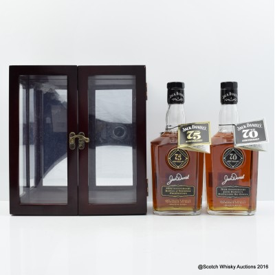 Jack Daniel's 70th Anniversary Of The Re-opening Of Distillery & 75th Anniversary Repeal Of National Prohibition In Display Case 2 x 75cl