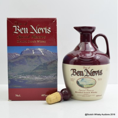 Ben Nevis Special Reserve Flagon   and cork