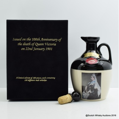 Rutherford's Ceramic Decanter to Commemorate 100th Anniversary of Queen Victoria
