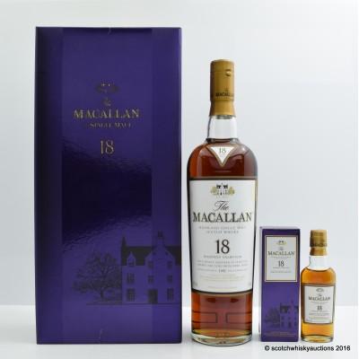 Macallan 18 Year Old 1990 & Mini Set 5cl