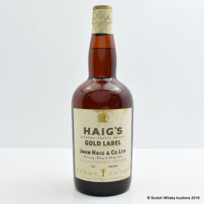 Haig's Gold Label Spring Cap 70 Proof