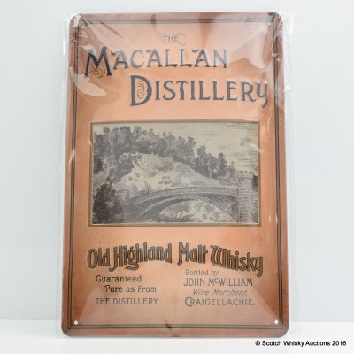Macallan Distillery Metal Plaque