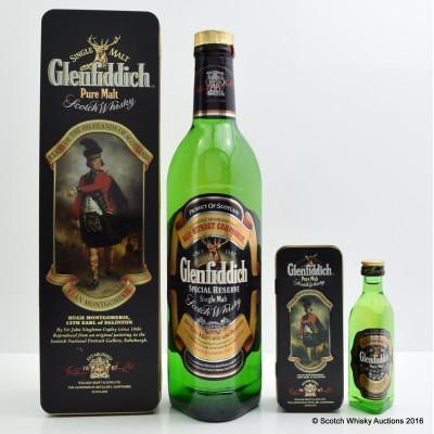 Glenfiddich Clans Of the Scottish Highlands Clan Montgomerie With Matching Mini