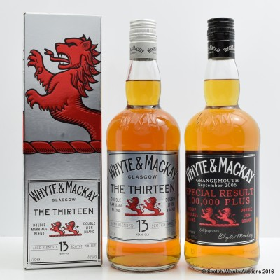 Whyte & Mackay The Thirteen 13 Year Old & Whyte & Mackay Special Result 100,000 Plus