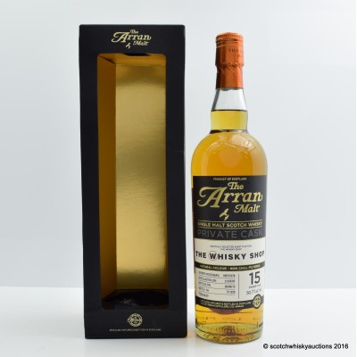 Arran Private Cask 1997 15 Year Old for The Whisky Shop