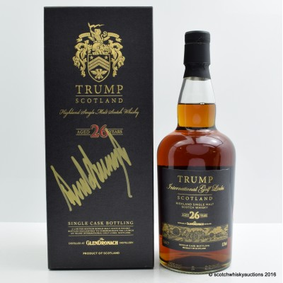 Glendronach 1985 26 Year Old Trump International Signed By Donald J Trump