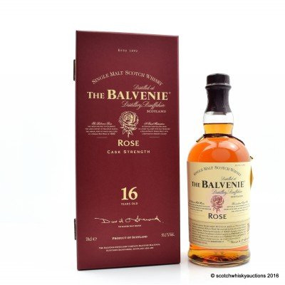 Balvenie Rose 1991 16 Year Old 1st Release Second Bottling