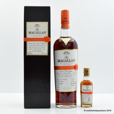 Macallan Easter Elchies 2010 With Matching Mini 5cl