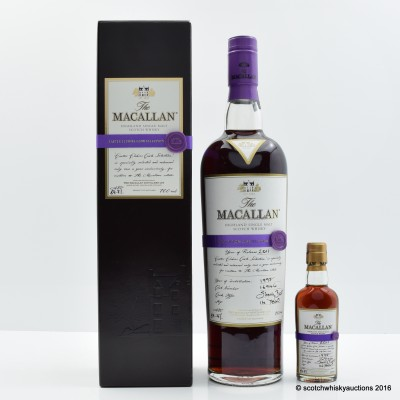 Macallan Easter Elchies 2011 With Matching Mini 5cl