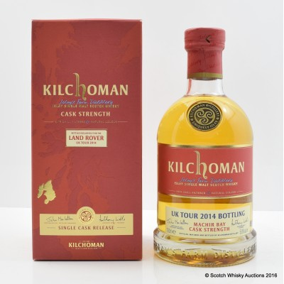 Kilchoman Bottled Exclusively For The Land Rover UK Tour 2014