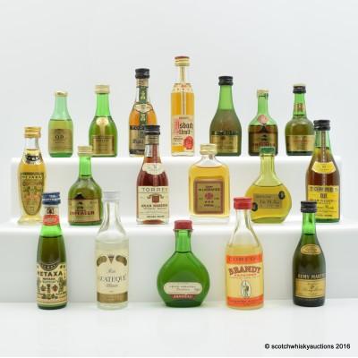 Assorted Miniature 18 x 5cl Including Remy Martin V.S.O.P