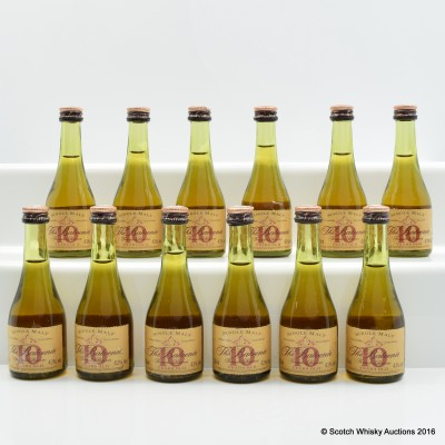 Balvenie 10 Year Old Founder's Reserve Cognac Bottle Miniature 12 x 5cl