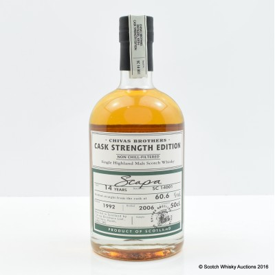 Scapa 1992 14 Year Old Chivas Brothers Cask Strength Edition 50cl
