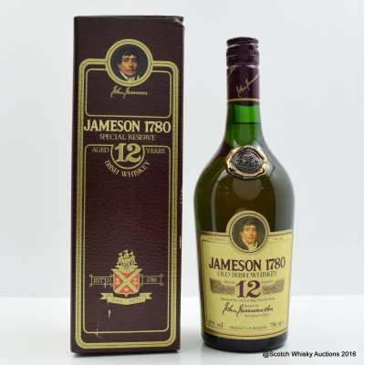 Jameson 12 Year Old 1780 75cl