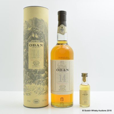 Oban 14 Year Old With Matching Mini 5cl