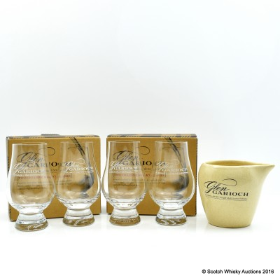 Glen Garioch Glencairn Glasses x 4 & Glen Garioch Water Jug