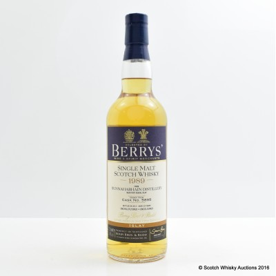 Bunnahabhain 1989 23 Year Old Berry Bros & Rudd