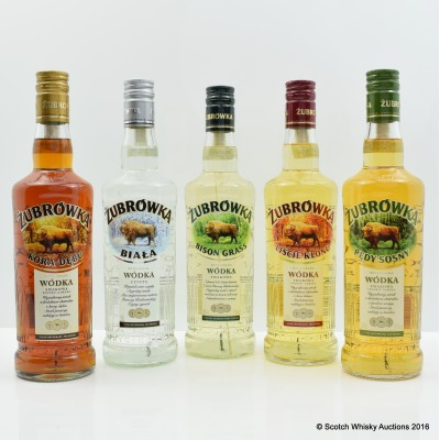 Zubrowka Vodka Set 5 x 50cl