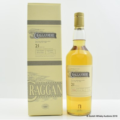 Cragganmore 1989 21 Year Old 2010 Release