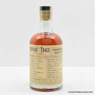 Buffalo Trace 12 Year Old Wheat Bourbon Experimental Collection 37.5cl