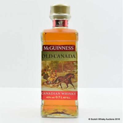 McGuinness Old Canada 1986 Canadian Whisky