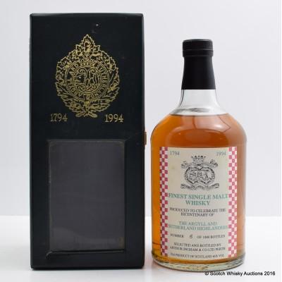 Argyll & Sutherland Highlanders Bicentenary Bottling