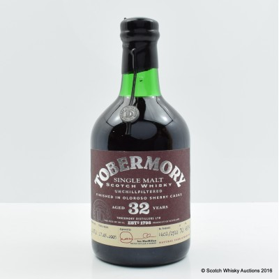 Tobermory 1972 32 Year Old