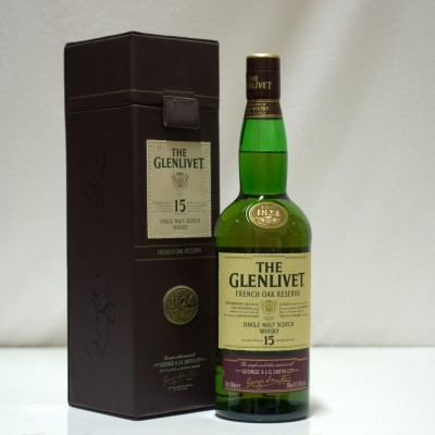Glenlivet 15 Year Old French Oak In Leather Case