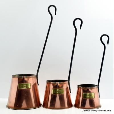 Copper Cider Measuring Cups x 3