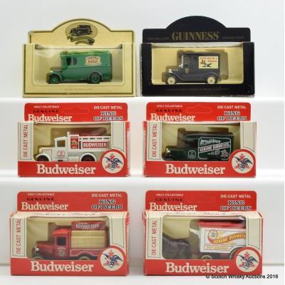 Assorted Miniatures Beer Vans x 6