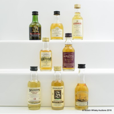 Assorted Minis 8 x 5cl Including Old Pulteney 12 Year Old 5cl