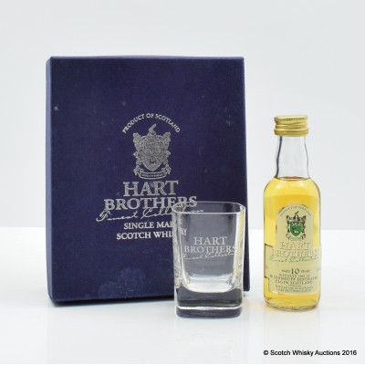 Miltonduff 1989 10 Year Old Hart Brothers Mini 5cl With Glass