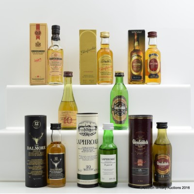 Assorted Minis 8 x 5cl Including Dalmore 12 Year Old Old Style 5cl