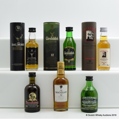 Assorted Minis 6 x 5cl Including Macallan 12 Year Old 5cl