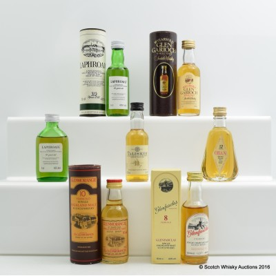 Assorted Minis 7 x 5cl Including Glen Garioch 10 Year Old 5cl