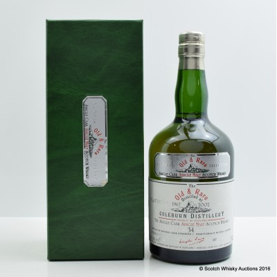 Coleburn 1967 34 Year Old Old & Rare