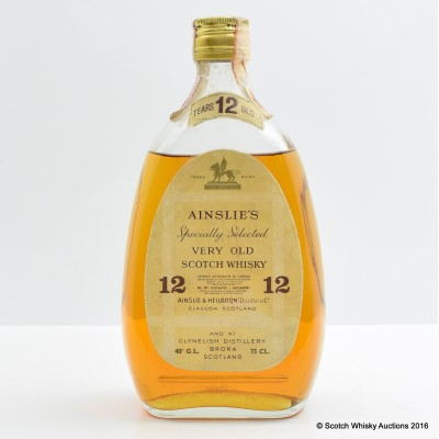 Ainslie's 12 Year Old Specially Selected Very Old Scotch Whisky 75cl