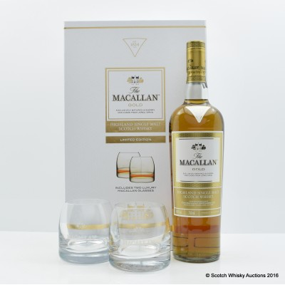 Macallan Gold Gift Set With Glasses