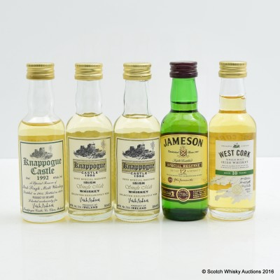 Assorted Miniature 5 x 5cl Including Jameson 12 Year Old