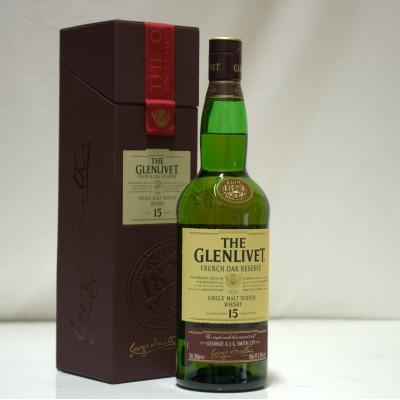 Glenlivet 15 Year Old French Oak In Leather Case