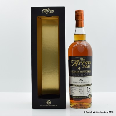Arran 2001 13 Year Old Private Cask Glasgow Whisky Club