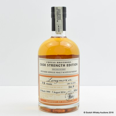 Longmorn 1999 15 Year Old Chivas Brothers Cask Strength Edition 50cl