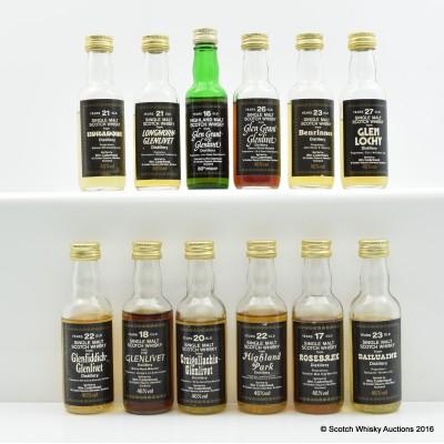 Assorted Cadenhead Minis 12 x 5cl Including Glen Grant-Glenlivet 26 Year Old