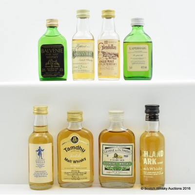 Assorted Minis 8 x 5cl Including Balvenie 8 Year Old Pure Malt