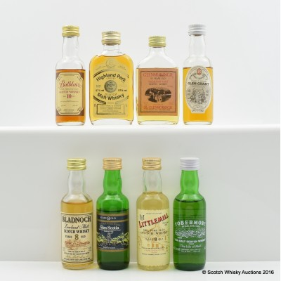 Assorted Minis 8 x 5cl Including Balblair 10 Year Old Gordon & Macphail