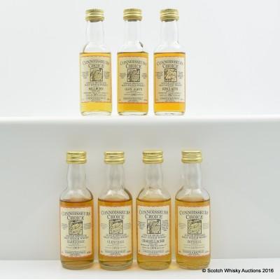 Assorted Connoisseurs Choice Minis 7 x 5cl Including Kinclaith 1967 5cl