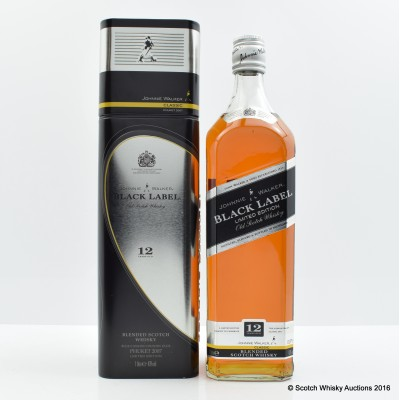 Johnnie Walker 12 Year Old Black Label Classic 2007 Celebration 1L