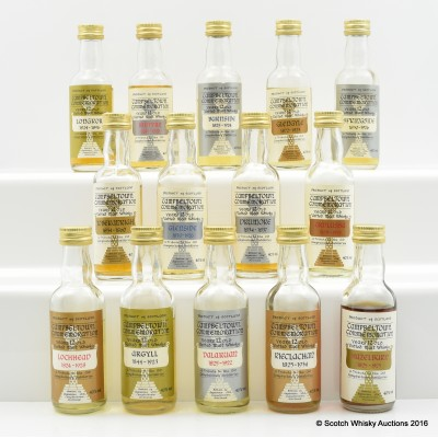 Assorted Campbeltown Commemorative Minis 12 x 5cl