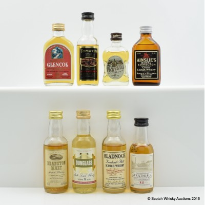 Assorted Minis 8 x 5cl Including Glencoe 100° Proof